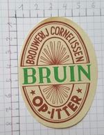 ETIQUETTE  BROUWERIJ  CORNELISSEN OP-ITTER BRUIN - Bier