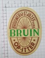 ETIQUETTE  BROUWERIJ  SAINT JOZEF OP-ITTER BRUIN - Bier