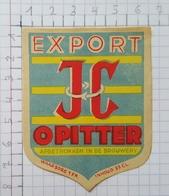 ETIQUETTE  BROUWERIJ  CORNELISSEN OPITTER EXPORT JC -1 - Bier