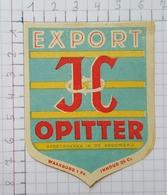 ETIQUETTE  BROUWERIJ  CORNELISSEN OPITTER EXPORT JC -2 - Bier