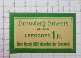 ETIQUETTE  BROUWERIJ  SMEETS ZOLDER - Bier