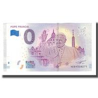 Vatican, Billet Touristique - 0 Euro, Vatican - Italy - Le Pape François, 2018 - Jetons & Médailles
