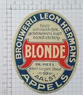 ETIQUETTE  BROUWERIJ  LEON HERMANS APPELS BLONDE - Bier