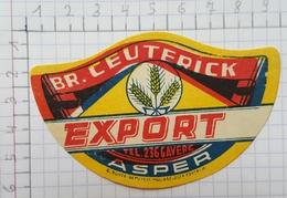 ETIQUETTE  BROUWERIJ CEUTERICK ASPER EXPORT - Bier