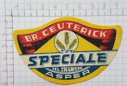 ETIQUETTE  BROUWERIJ CEUTERICK ASPER SPECIALE - Bier
