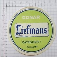 ETIQUETTE  BROUWERIJ LIEFMANS OUDENAARDE ODNAR -1 - Bier