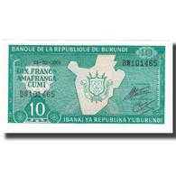 Billet, Burundi, 10 Francs, 2005, 2005-02-05, KM:33a, NEUF - Burundi