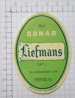 ETIQUETTE  BROUWERIJ LIEFMANS OUDENAARDE ODNAR -2 - Bier