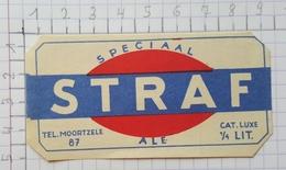 ETIQUETTE  BROUWERIJ DE FONTEIN BALEGEM  SPECIAAL STRAF - Bier