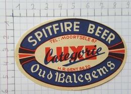 ETIQUETTE  BROUWERIJ DE FONTEIN BALEGEM  SPITFIRE BEER - Bier