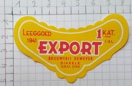 ETIQUETTE  BROUWERIJ DE WEVER DICKELE EXPORT - Bier