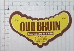 ETIQUETTE  BROUWERIJ DE WEVER DIKKELE OUD BRUIN - Bier