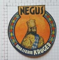 ETIQUETTE  BRASSERIE KRUGER EEKLOO NEGUS - Bier