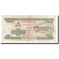 Billet, Cambodge, 200 Riels, 1998, KM:42b, TB+ - Kambodscha