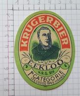 ETIQUETTE  BRASSERIE KRUGER EEKLOO KRUGERBIER - Bier