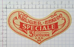 ETIQUETTE  BRASSERIE KRUGER EEKLOO SPECIALE - Bier