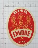 ETIQUETTE  BRASSERIE CNUDDE EINE BIER - Bier