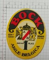 ETIQUETTE  BRASSERIE AIGLE BELGICA GENT  BRUGGE BOCK - Bier