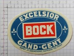 ETIQUETTE  BRASSERIE EXCELSIOR GAND GENT STAR BOCK - Bier