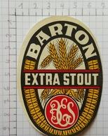 ETIQUETTE  BRASSERIE EXCELSIOR GAND GENT BARTON EXTRA STOUT - Bier
