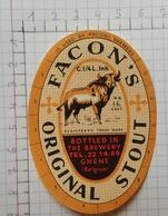 ETIQUETTE  BRASSERIE FACON'S GHENT ORIGINAL STOUT - Bier