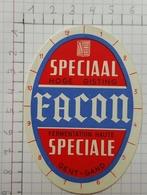 ETIQUETTE  BRASSERIE FACON GENT - GAND SPECIAAL FACON SPECIALE - Bier