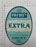 ETIQUETTE  BRASSERIE FACON GHENT FACON'S  EXTRA - Bier
