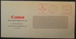 Belgium - Advertising Meter Franking Cover 1980  Logo Canon B3910 - Franking Machines