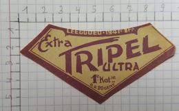 ETIQUETTE  BRASSERIE ULTRA GENT EXTRA TRIPEL ULTRA - Bier