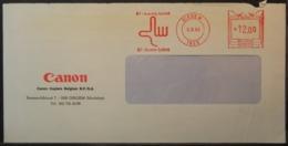 Belgium - Advertising Meter Franking Cover EMA 1985 Diegem Logo Canon B3910 - Franking Machines