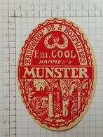 ETIQUETTE  BROUWERIJ DE 2 HOEFIJZERS HAMME O/d MUNSTER - Bier