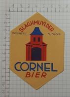 ETIQUETTE  BROUWERIJ SLAGMUYLDER NINOVE CORNEL BIER - Bier