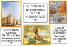 87 BERSAC SUR RIVALIER  Multivue     27 (scan Recto Verso)KEVREN0745 - France