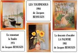 87 BERSAC SUR RIVALIER  Peintures De J.BESSUGES En 1984 Les Tournesols   29 (scan Recto Verso)KEVREN0745 - France