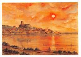 11 GRUISSAN  Le Village D'aprés Une Aquarelle De René ANGLES  11 (scan Recto Verso)KEVREN0746 - Sonstige Gemeinden