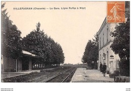 16 . N° 49726 . Villefagnan.la Gare Ligne Ruffec A Niort - Villefagnan