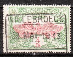TR45  Chiffres Colorés - Oblit. WILLEBROECK - LOOK!!!! - Bahnwesen