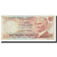 Billet, Turquie, 20 Lira, 1970, 1970-10-14, KM:187a, TB - Türkei
