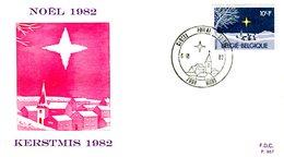 14182031 BE 19881106 Mons; Noël, Paysage Hiver; Fdc Cob2067 - 1981-90