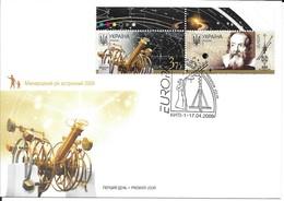 Ukraine 2009 MiNr. 1032 - 33 EUROPA CEPT Galileo Galilei ASTRONOMY FDC 7,50 € - Ukraine