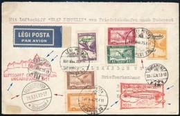 1931 Zeppelin Magyarországi útja Levél Zeppelin Teljes Sorral / Zeppelin Flight To Hungary, Mi 478-479 On Cover From Fri - Stamps