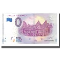 Italie, Billet Touristique - 0 Euro, Italy - Alberobello - Les Trulli - Otros