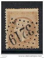 FRANCE:  1862  NAPOLEON  III°  -  10 C. BISTRE  OBL. -  YV/TELL. 21 - 1862 Napoleon III