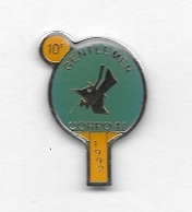 Pin's  Sport  TENNIS  DE  TABLE, 10 è  GENTLEMEN  CORPO  41  1992 - Tennis De Table