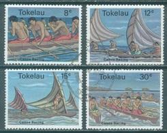 TOKELAU - USED/OBLIT. - 1978  - CANOE RACING - Yv 65-68 -  Lot 21652 - Tokelau