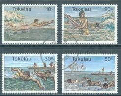 TOKELAU - USED/OBLIT. - 1980  - SURFING SWIMMING - Yv 73-76 -  Lot 21653 - Tokelau