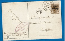 OC 11  CP  Obl St Gérard + Censure + Cachet Facteur - [OC1/25] Gen.reg.