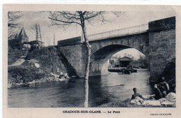 87 - ORADOUR Sur GLANE - Le Pont - ANIMATION - Lavandières  - 1946 - Oradour Sur Glane