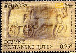 MONTENEGRO 2020,EUROPA CEPT,ANCIENT POSTAL ROUTES,MNH - Montenegro