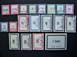 FICTIFS OBLITERES N°F 77 à F 95 (FICTIF F77 à F95) SERIE COMPLETE EMISSIONS DE 1950 - Fictie